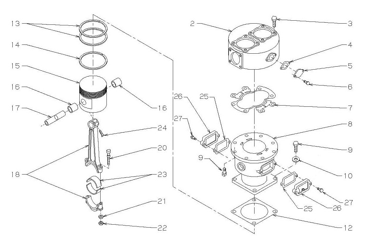 Low Pressure Cylinder Head and Piston